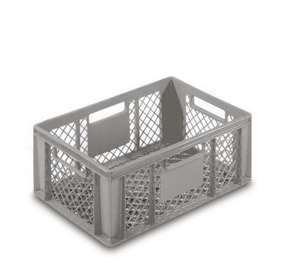 Plastic Crate 600x400 Mm Solid Bottom Amp Perforated Sides